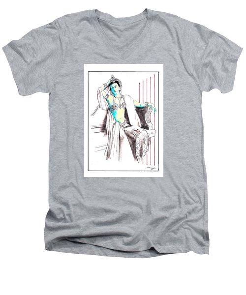 Deadly Diva, Mata Hari -- Portrait Men's V-Neck T-Shirt