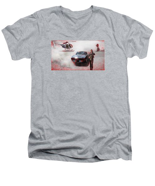 Deadly Pursuit Men's V-Neck T-Shirt