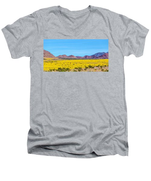 Death Valley Super Bloom 2016 Men's V-Neck T-Shirt by Peter Tellone