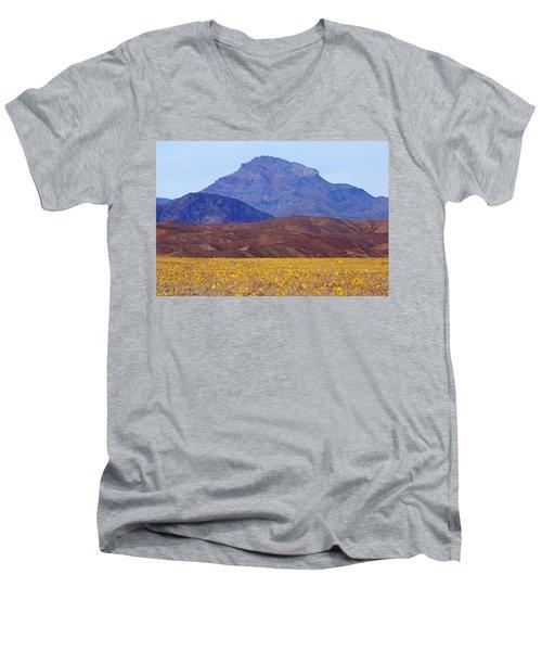 Death Valley Superbloom 201 Men's V-Neck T-Shirt by Daniel Woodrum