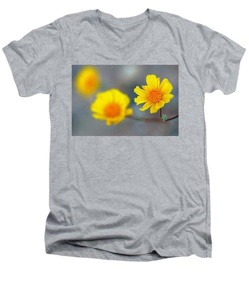 Death Valley Superbloom 204 Men's V-Neck T-Shirt by Daniel Woodrum