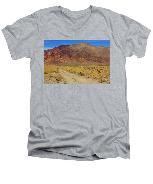 Death Valley Superbloom 205 Men's V-Neck T-Shirt by Daniel Woodrum