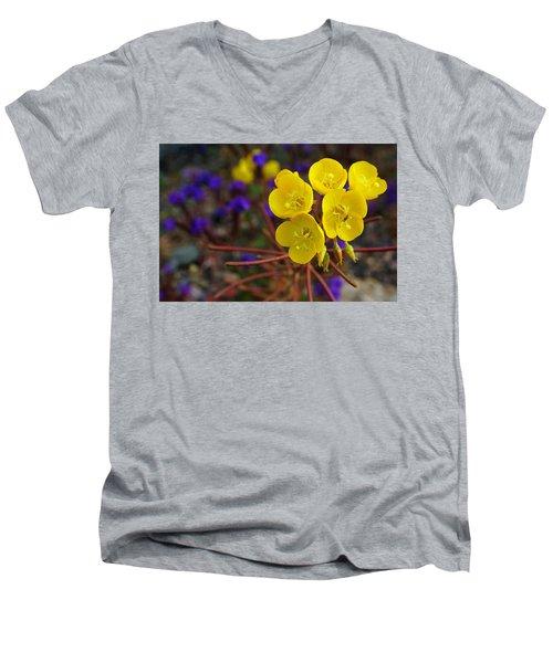 Death Valley Superbloom 206 Men's V-Neck T-Shirt by Daniel Woodrum