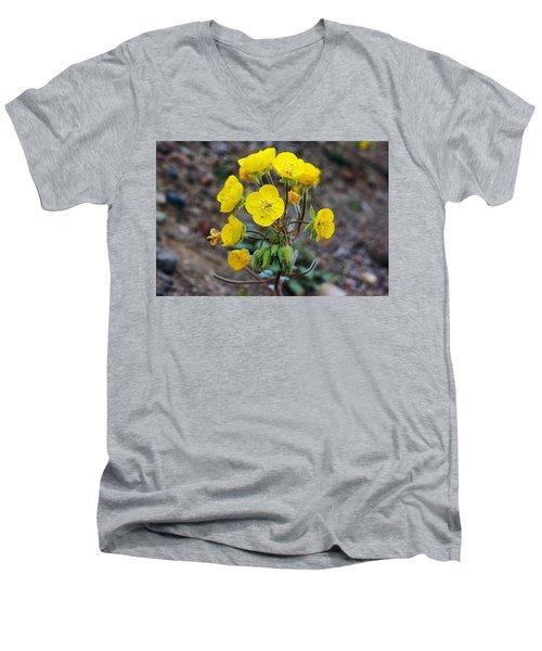 Death Valley Superbloom 306 Men's V-Neck T-Shirt by Daniel Woodrum