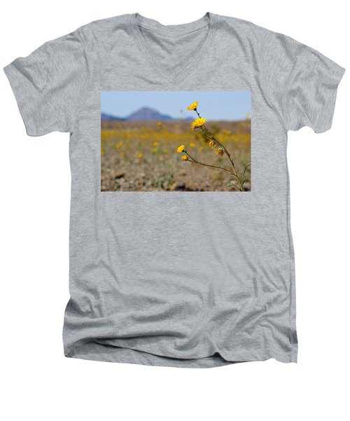 Death Valley Superbloom 501 Men's V-Neck T-Shirt by Daniel Woodrum