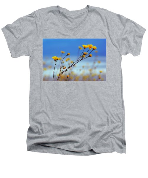 Death Valley Superbloom 502 Men's V-Neck T-Shirt by Daniel Woodrum
