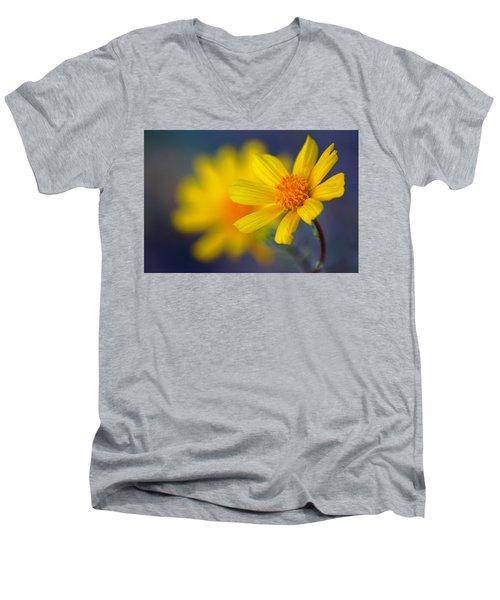 Death Valley Superbloom 503 Men's V-Neck T-Shirt by Daniel Woodrum
