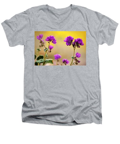 Men's V-Neck T-Shirt featuring the photograph Death Valley Superbloom 506 by Daniel Woodrum