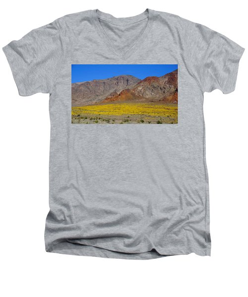 Death Valley Superbloom Men's V-Neck T-Shirt