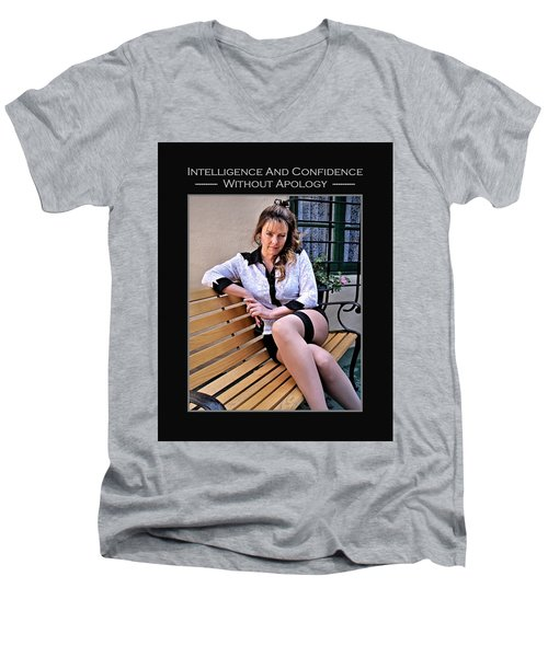 Debra Valentine 1-14 Men's V-Neck T-Shirt by David Miller