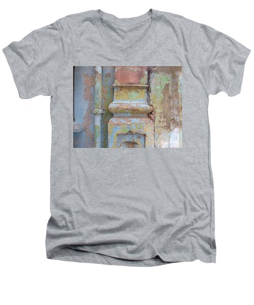 Men's V-Neck T-Shirt featuring the photograph Decay by Jean luc Comperat