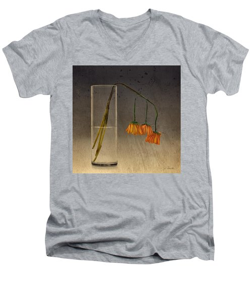 Decaying Men's V-Neck T-Shirt by Joe Bonita