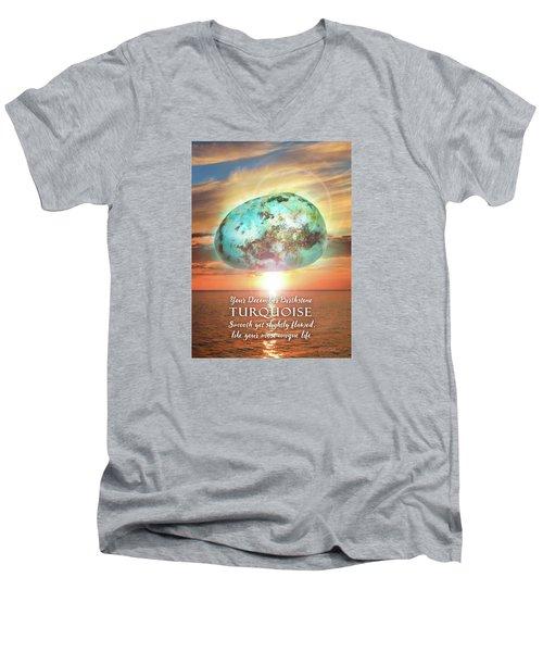 December Birthstone Turquoise Men's V-Neck T-Shirt