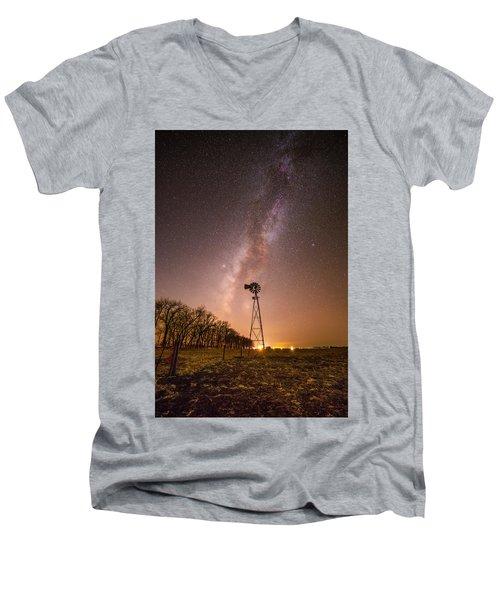 December Night  Men's V-Neck T-Shirt
