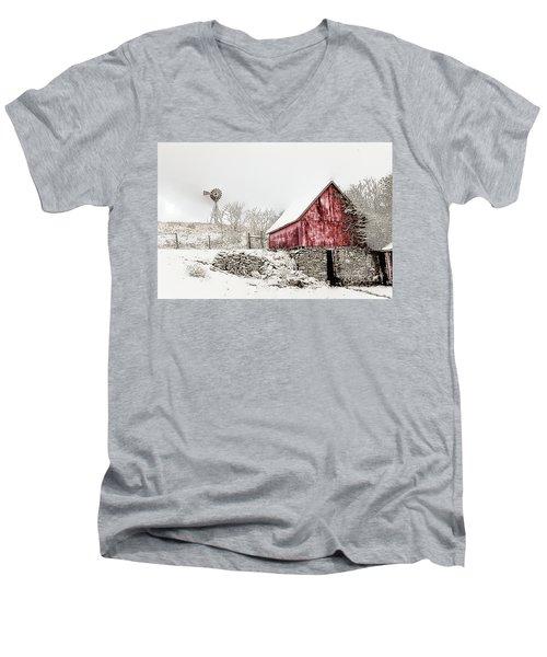 Decked In White Men's V-Neck T-Shirt