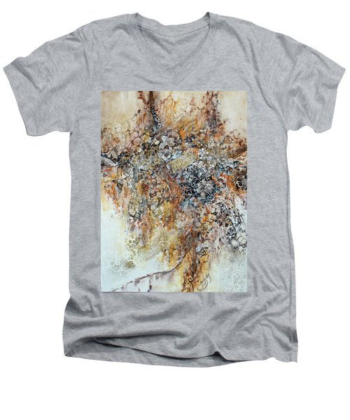 Men's V-Neck T-Shirt featuring the painting Decomposition  by Joanne Smoley