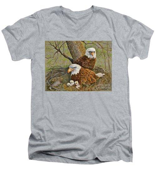 Decorah Eagle Family Men's V-Neck T-Shirt