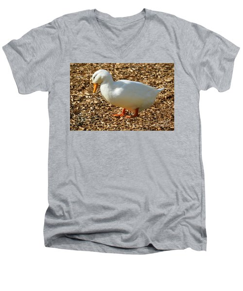 Decorative Duck Series A5717 Men's V-Neck T-Shirt