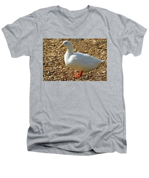 Decorative Duck Series 342717 Men's V-Neck T-Shirt