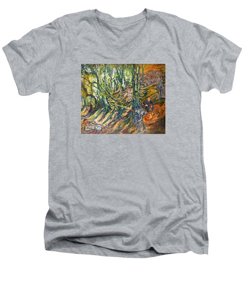 Dedicated To The Memory Of Cecil The Lion Men's V-Neck T-Shirt