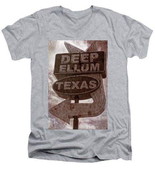 Deep Ellum Texas Men's V-Neck T-Shirt by Jonathan Davison