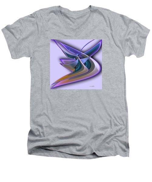 Deep Glow Men's V-Neck T-Shirt by Iris Gelbart