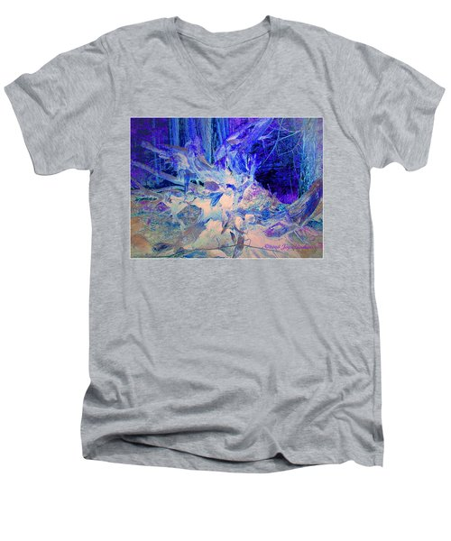 Men's V-Neck T-Shirt featuring the photograph Deep In The Forest by Joyce Dickens