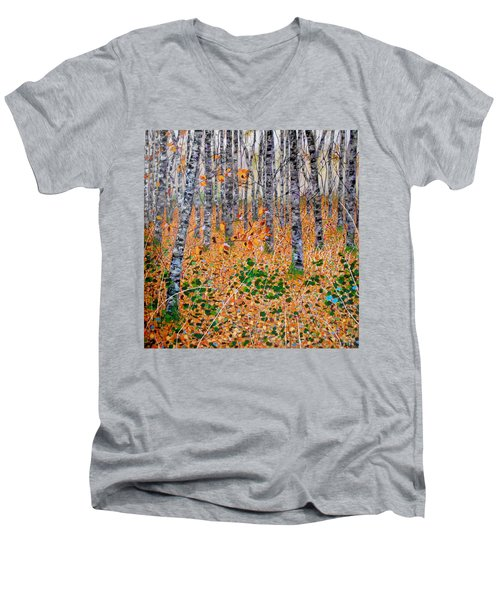 Deep In The Woods- Large Work Men's V-Neck T-Shirt