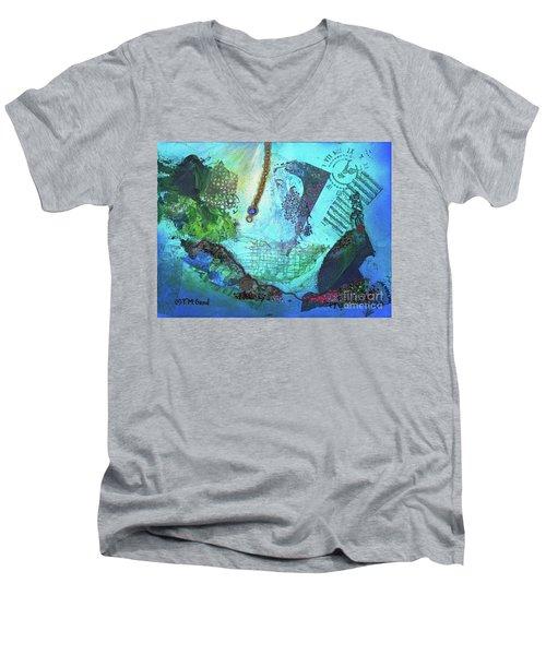 Deep Sea Life Men's V-Neck T-Shirt