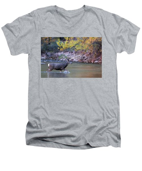 Deer Crossing River Men's V-Neck T-Shirt