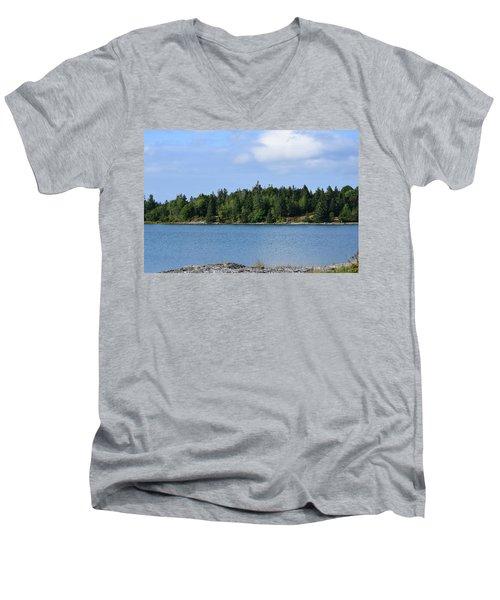 Deer Isle, Maine No. 5 Men's V-Neck T-Shirt