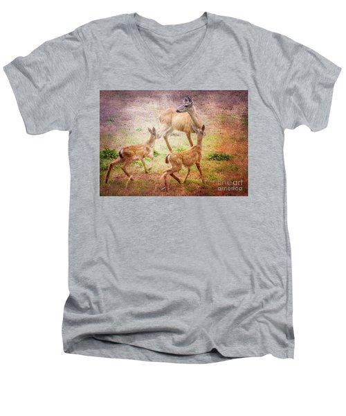 Deer On Vancouver Island Men's V-Neck T-Shirt