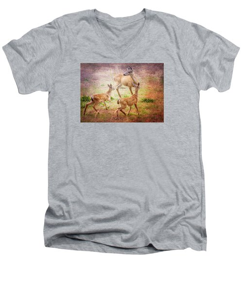 Deer On Vancouver Island Men's V-Neck T-Shirt