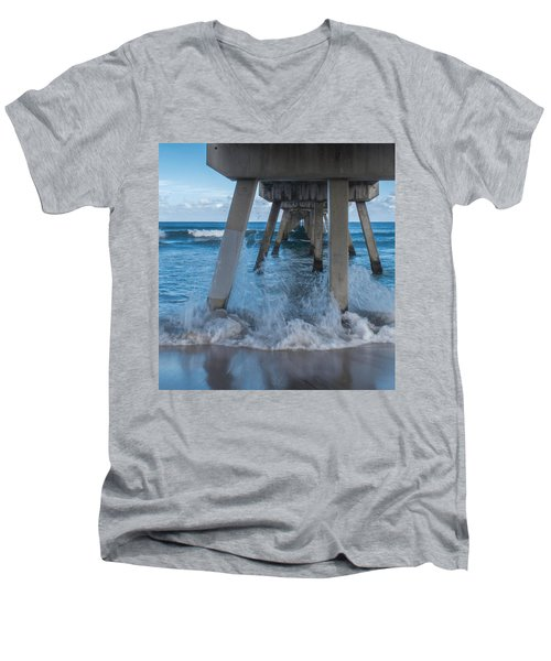 Deerfield Pier Men's V-Neck T-Shirt