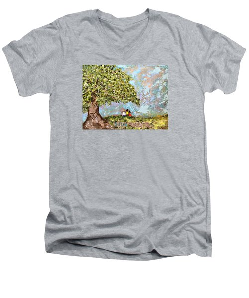 Defend The Fatherless Men's V-Neck T-Shirt by Kirsten Reed