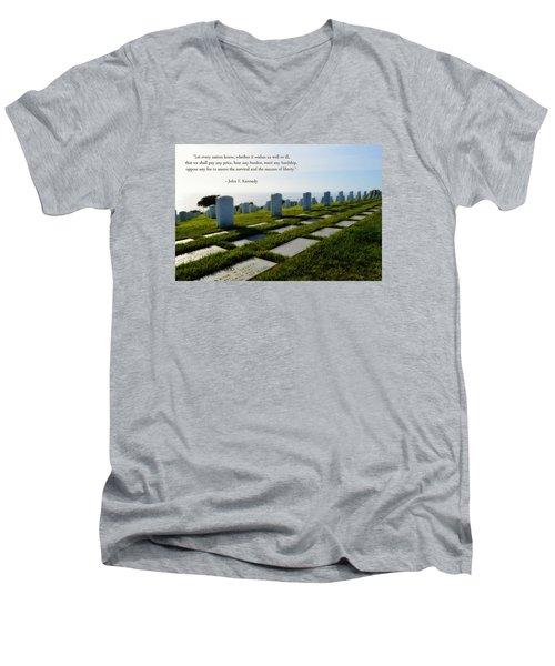 Defending Liberty Men's V-Neck T-Shirt