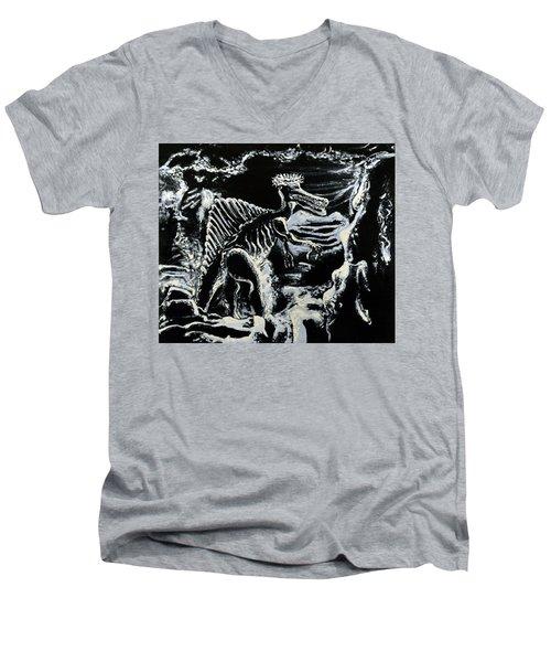 Deinos Sauros    Men's V-Neck T-Shirt