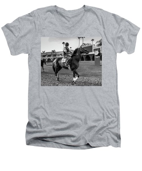 Del Mar Show Off Men's V-Neck T-Shirt