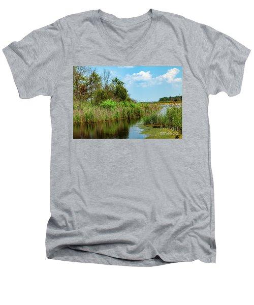 Delaware Wetlands Men's V-Neck T-Shirt