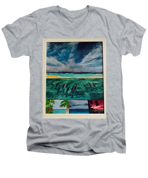 Delfin Men's V-Neck T-Shirt