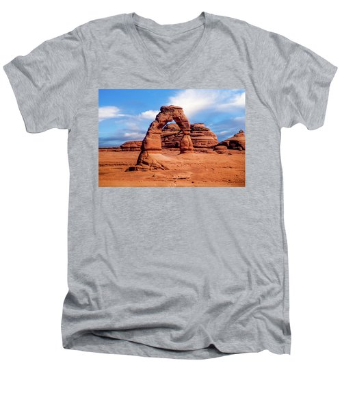 Delicate Arch From Lower Viewpoint Men's V-Neck T-Shirt