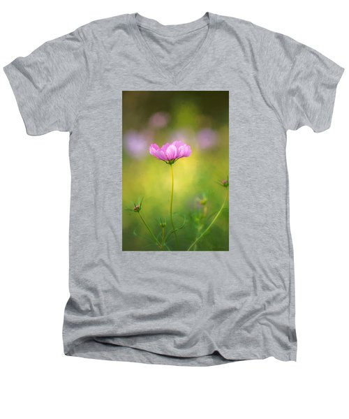 Men's V-Neck T-Shirt featuring the photograph Delicate Beauty by John Rivera