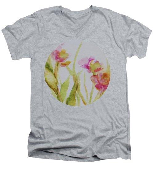 Delicate Blossoms Men's V-Neck T-Shirt
