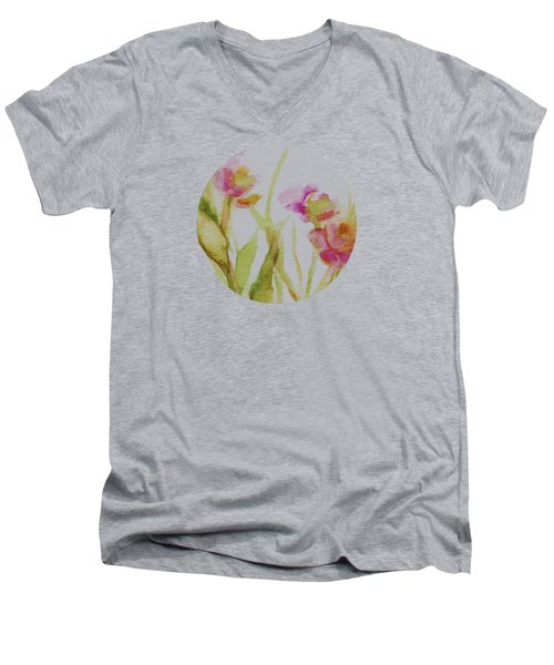 Delicate Blossoms Men's V-Neck T-Shirt