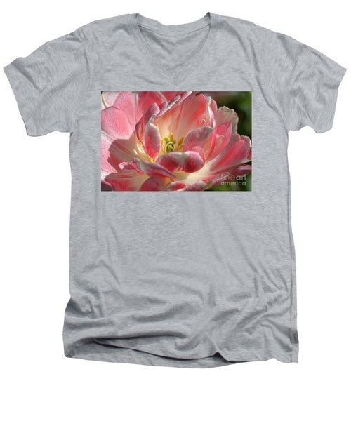 Delicate Men's V-Neck T-Shirt by Diana Mary Sharpton