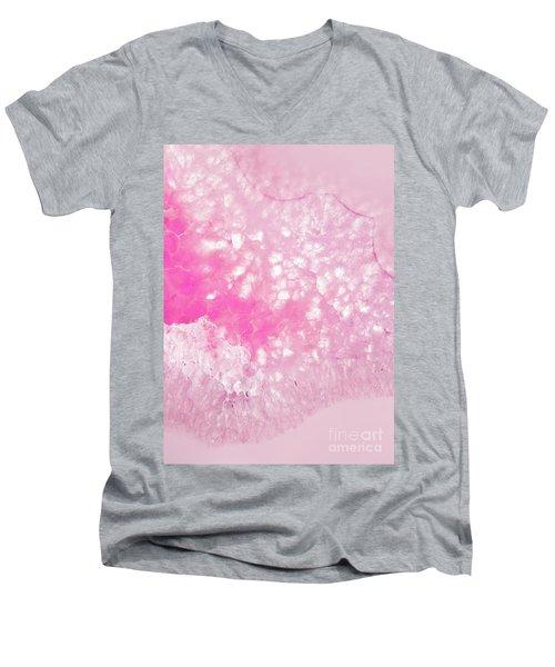 Delicate Pink Agate Men's V-Neck T-Shirt