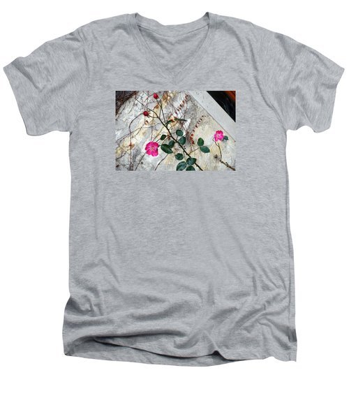 Delicate Rose In December Men's V-Neck T-Shirt