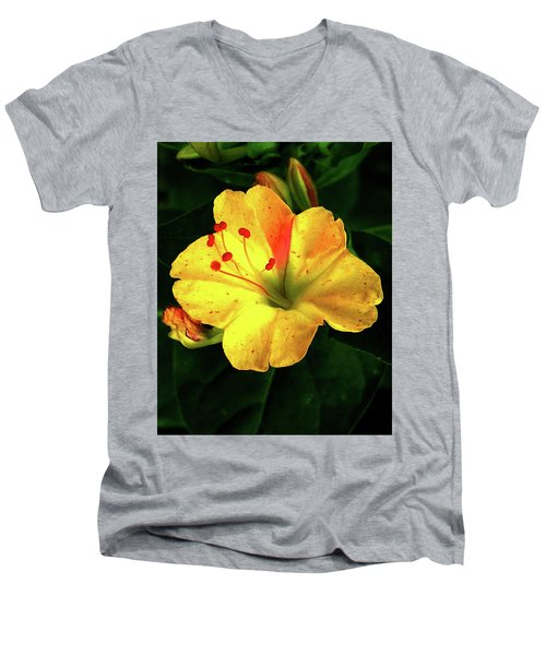 Delicate Yellow Flower Men's V-Neck T-Shirt