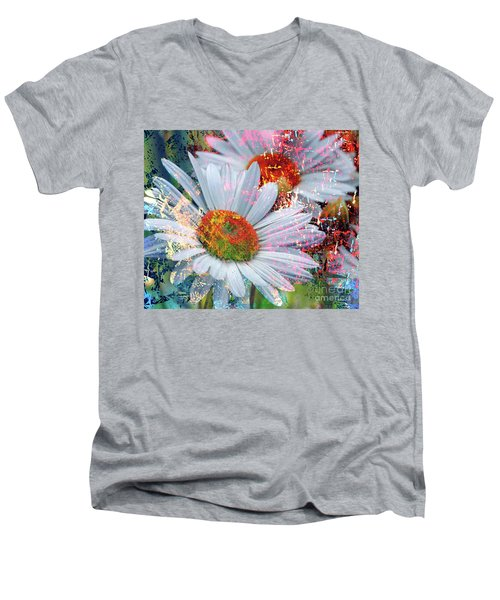 Delightful Daisies Men's V-Neck T-Shirt