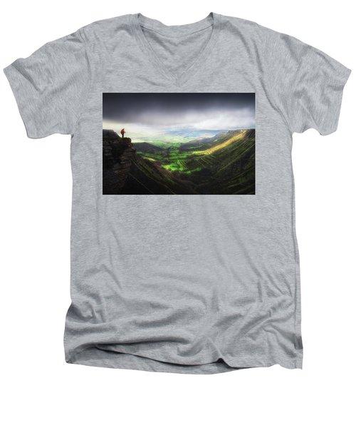 Delika Canyon Men's V-Neck T-Shirt
